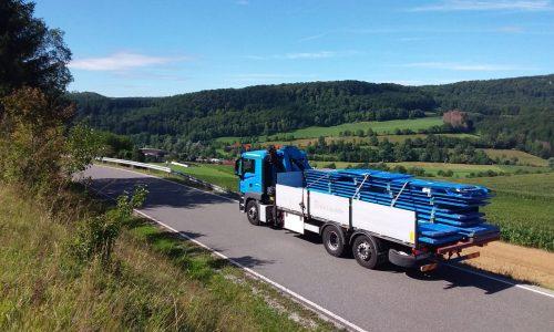 transport blachy dachowej